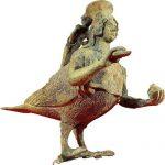 Askos, l'unguentario di bronzo del V secolo a. C. raffigurante una sirena