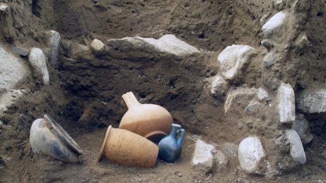 reperti in scavo