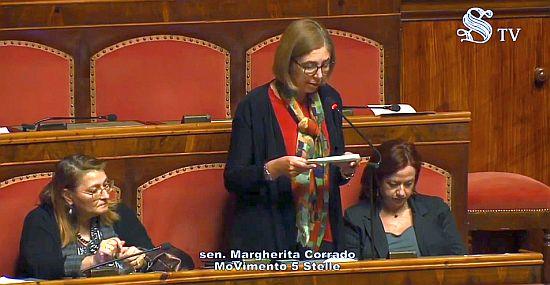 Margherita Corrado in Udienza al Senato
